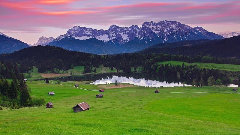 Баварские Альпы пейзаж
