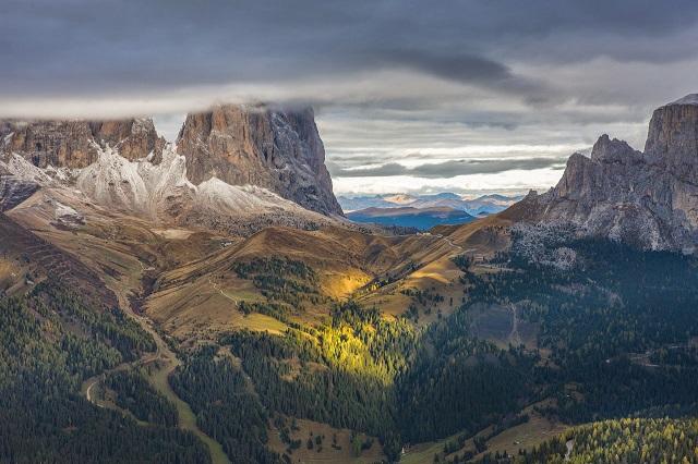 Доломитовые Альпы облака фото