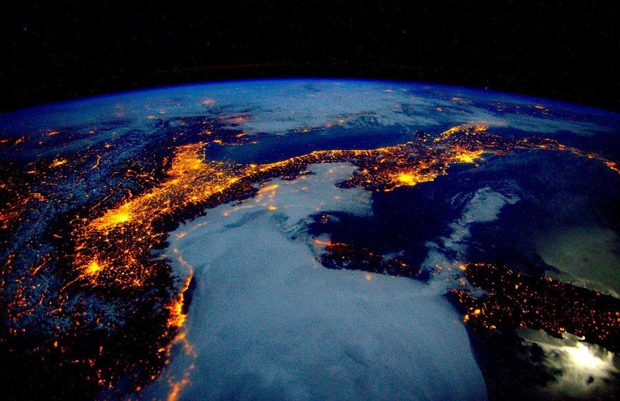 Карты Альп из космоса