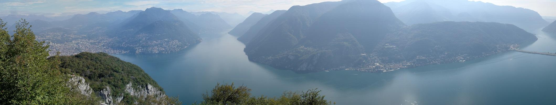 Панорама озеро Лугано
