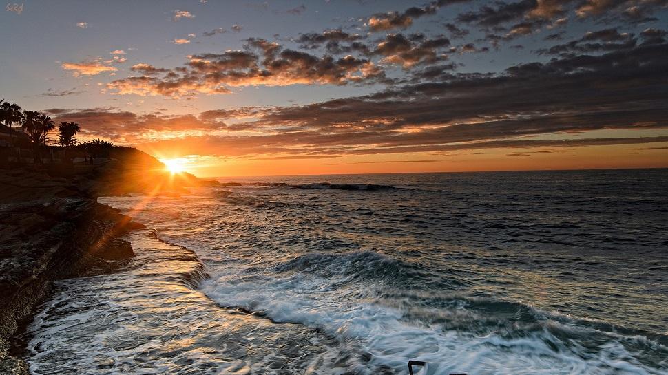 Средиземное море, Аликанте, закат