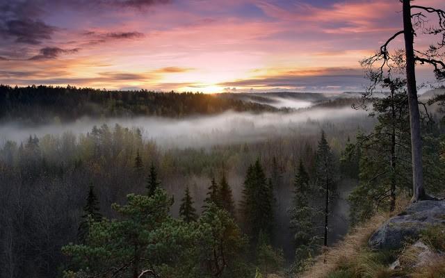 Финляндия фото закат