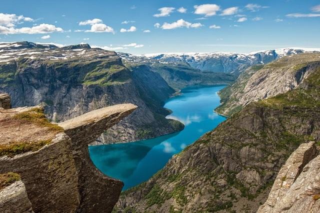 Фьорды Норвегии язык троля фото