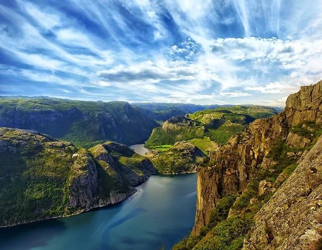Фьорды Норвегии природа