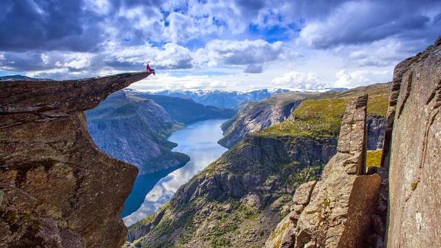 Фьорды Норвегии фото горизонт