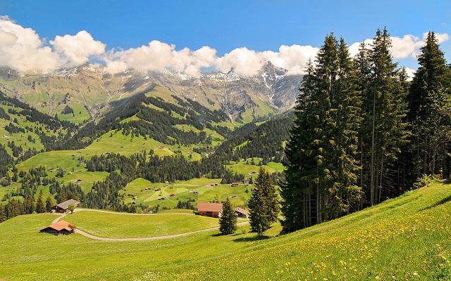 Альпы горы на фоне