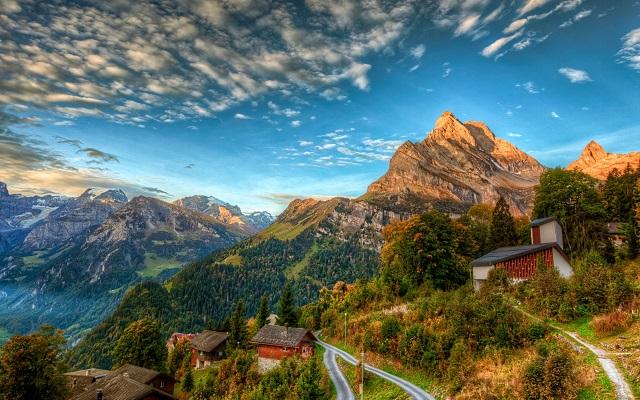 Альпы закат